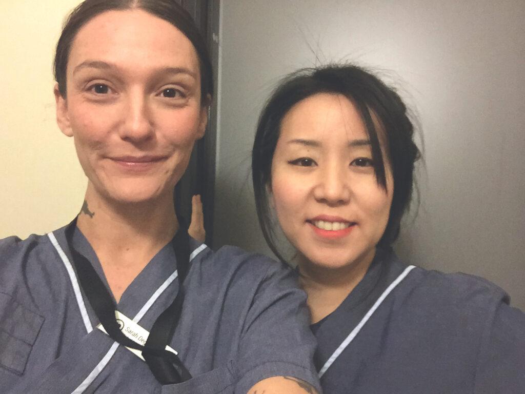 Sarah Degerhammar Bonk och Sarah Kim
