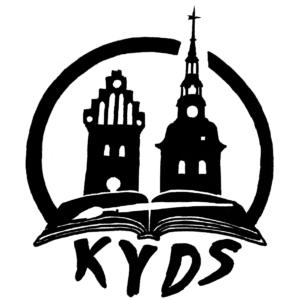 Två kyrktorn och en uppslagen bok med en pensel ska illustrera Kulturförvaltningen i Ystads driftsektion