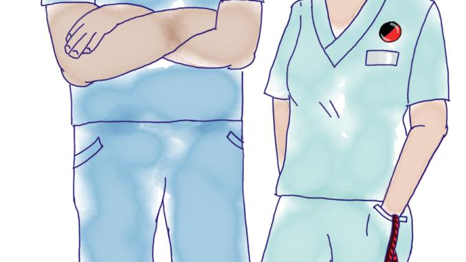 Två vårdarbetare
