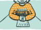 """Person som inte hela ansiktet syns på sitter med händerna knutna på ett papper med texten """"krav"""". I famnen har personen små figurer som håller en banderoll med texten """"blockad""""."""