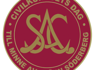 Logotyp för civilkuragets dag. SAC syndikalisterna